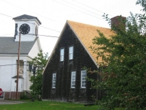 Chapman-Hall House with Church