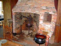 Chapman-Hall House Kitchen Fireplace
