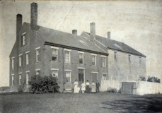 Wiscasset Old Jail with Family Circa 1900