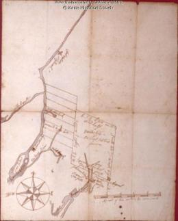 Early Map with Fort Shirley