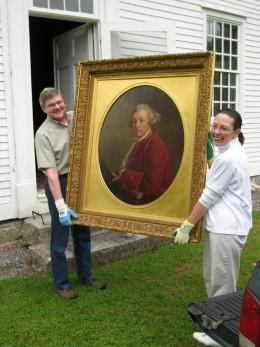 Governor Pownall Portrait Restored