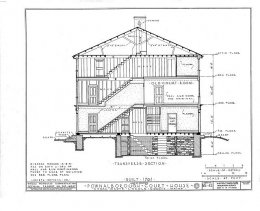 HABS Pownalborough Court House Drawing 1936