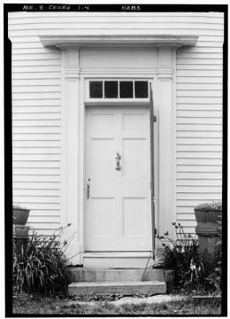 HABS Pownalborough Court House Door on River Side 1936