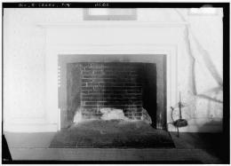 HABS Pownalborough Court House Fireplace 1936