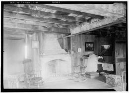 HABS Pownalborough Court House Kitchen Fireplace 1936