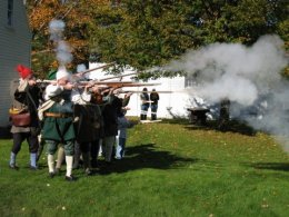 Pownalborough Court House Firing Muskets