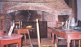 Pownalborough Court House Newspaper Photo of Kitchen Fireplace 2006