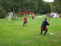 Pownalborough Court House Living Historians Playing Rounders